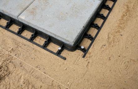 snapedge elemente befestigen kantensicherungssytem sand